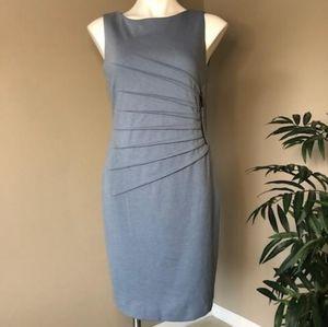 {IVANKA TRUMP} Slate Blue Sunburst Sheath Dress